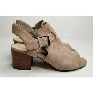 Nine West Slingback Booties Shoes Heels Size 8.5
